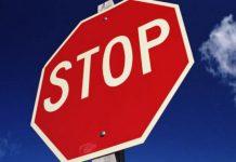Шофьорът не спрял на знак СТОП