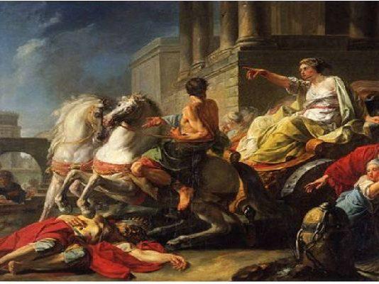 Сервий Тулий, прегазен от колесницата на дъщеря си