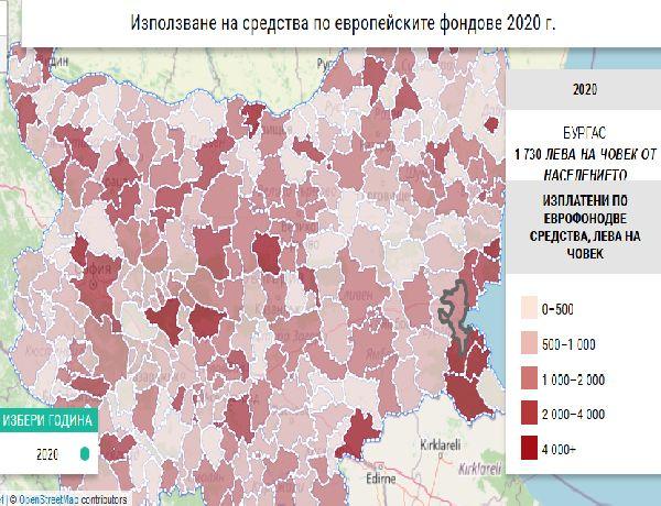 Бургас не усвоява добре евро средства