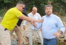 НСО изблъска Иванов във водата