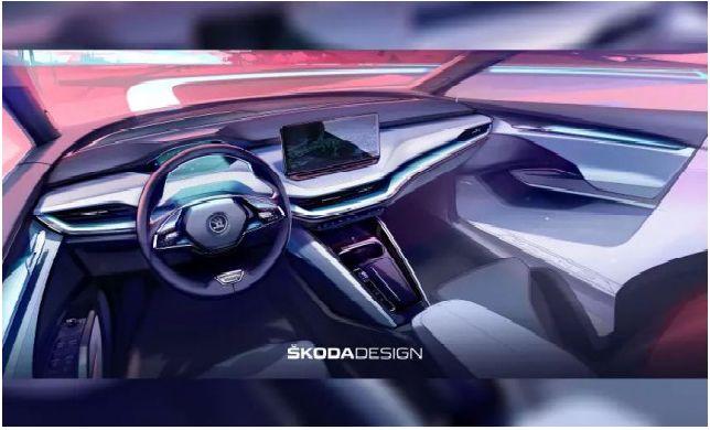 Skoda показва интериора на нов кросоувър