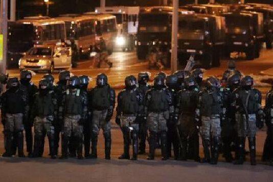 Протести в Минск