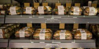 Пакетираните сандвичи пълни с Е-та