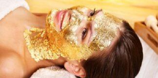 Златна маска на лице