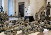 Войници спят в Конгреса