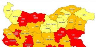 Бургаска област отново е в червената зона